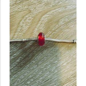 Pandora Red Glass Charm